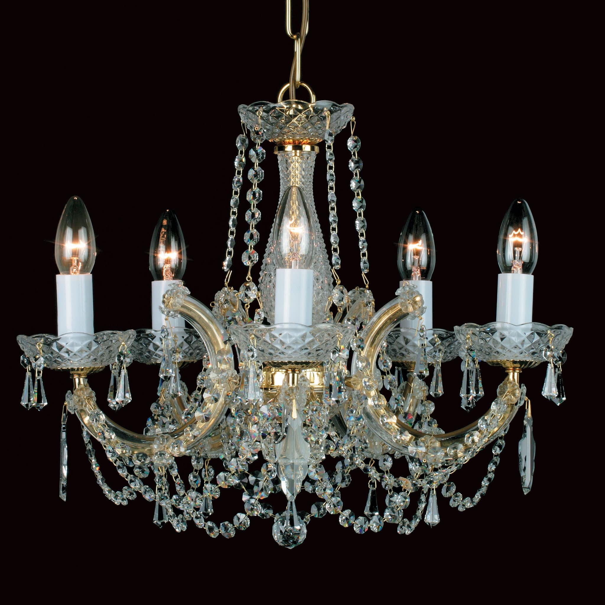 Impex marie therese 5 light gold crystal chandelier chandelier shack impex marie therese 5 light gold crystal chandelier aloadofball Gallery