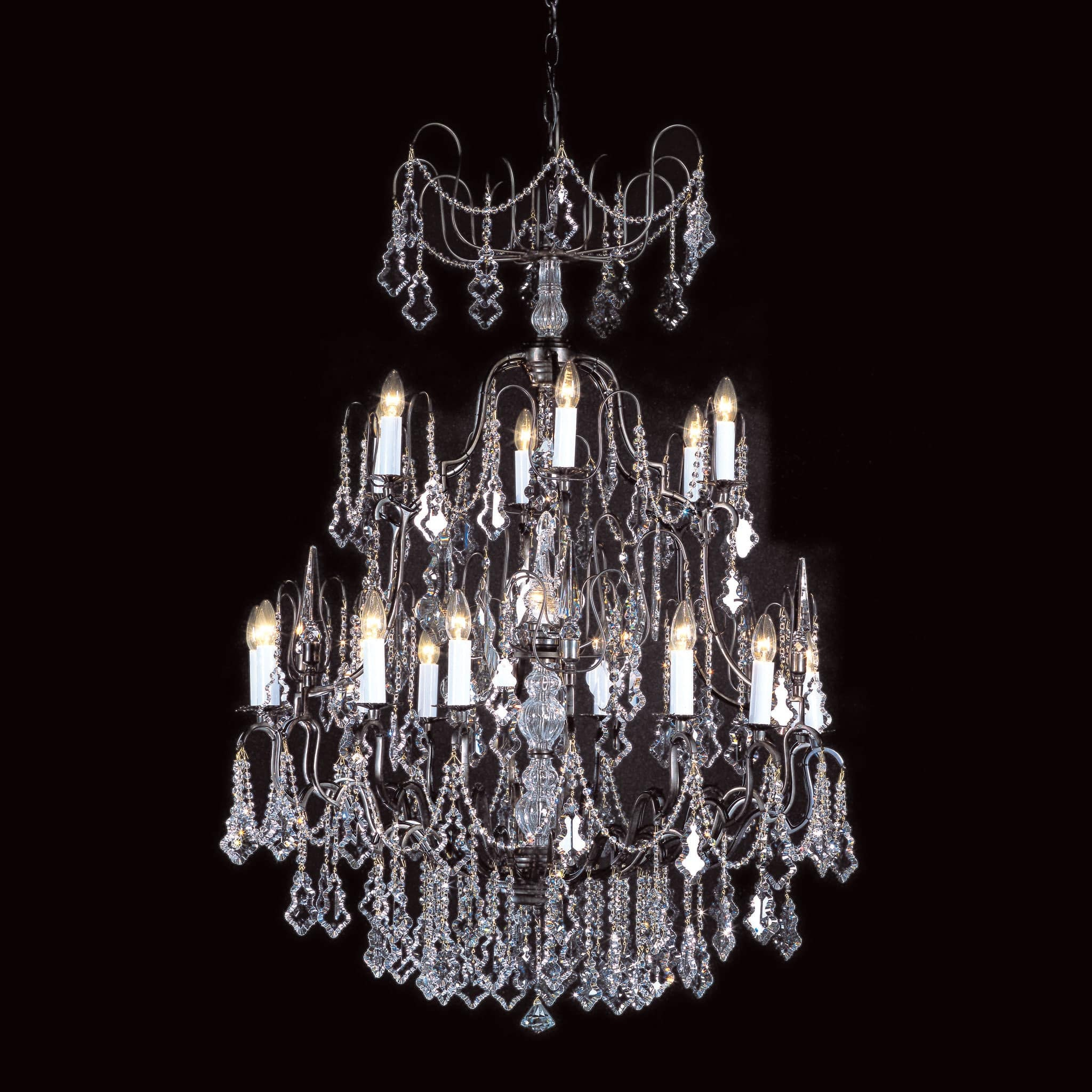 Impex Montmartre 19 Light Bronze Crystal Chandelier