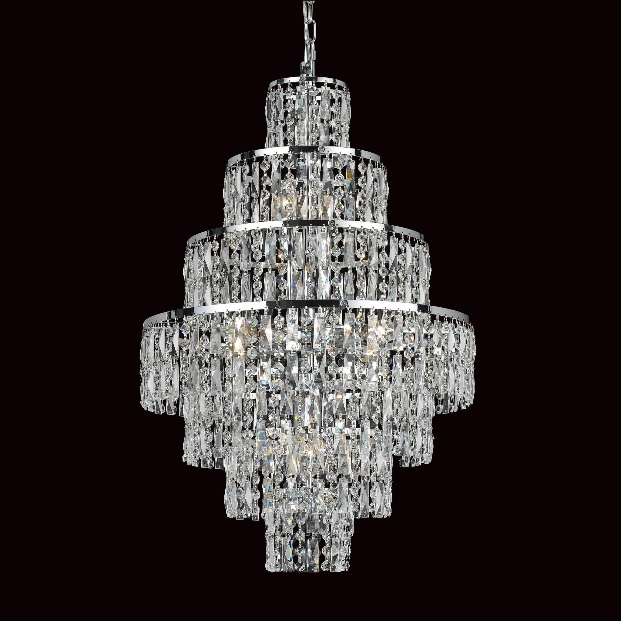 p asp annalee crystal chandelier light lighting