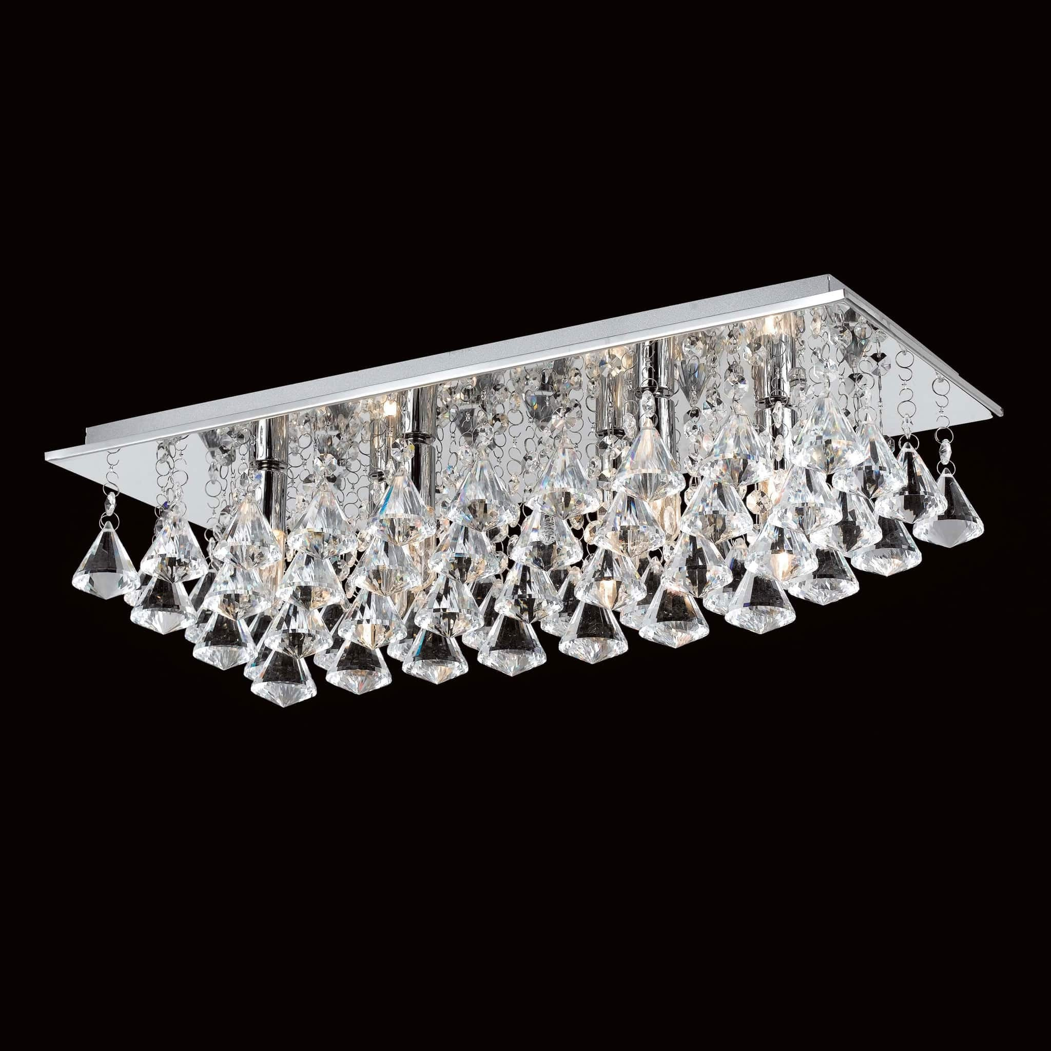 Flush Chandelier Impex parma 6 light rectangle crystal flush chandelier chandelier impex parma 6 light rectangle crystal flush chandelier cfh20111406plch audiocablefo