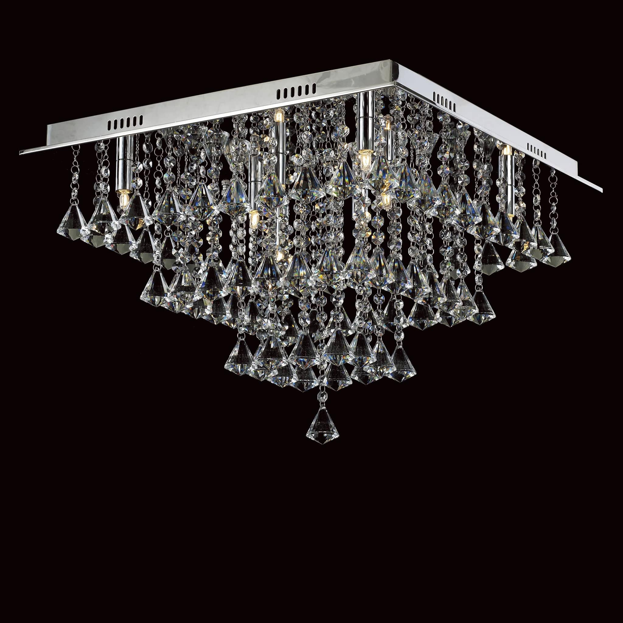 Flush Chandelier Impex parma square 8 light crystal flush chandelier chandelier shack impex parma square 8 light crystal flush chandelier cfh30117108plch audiocablefo