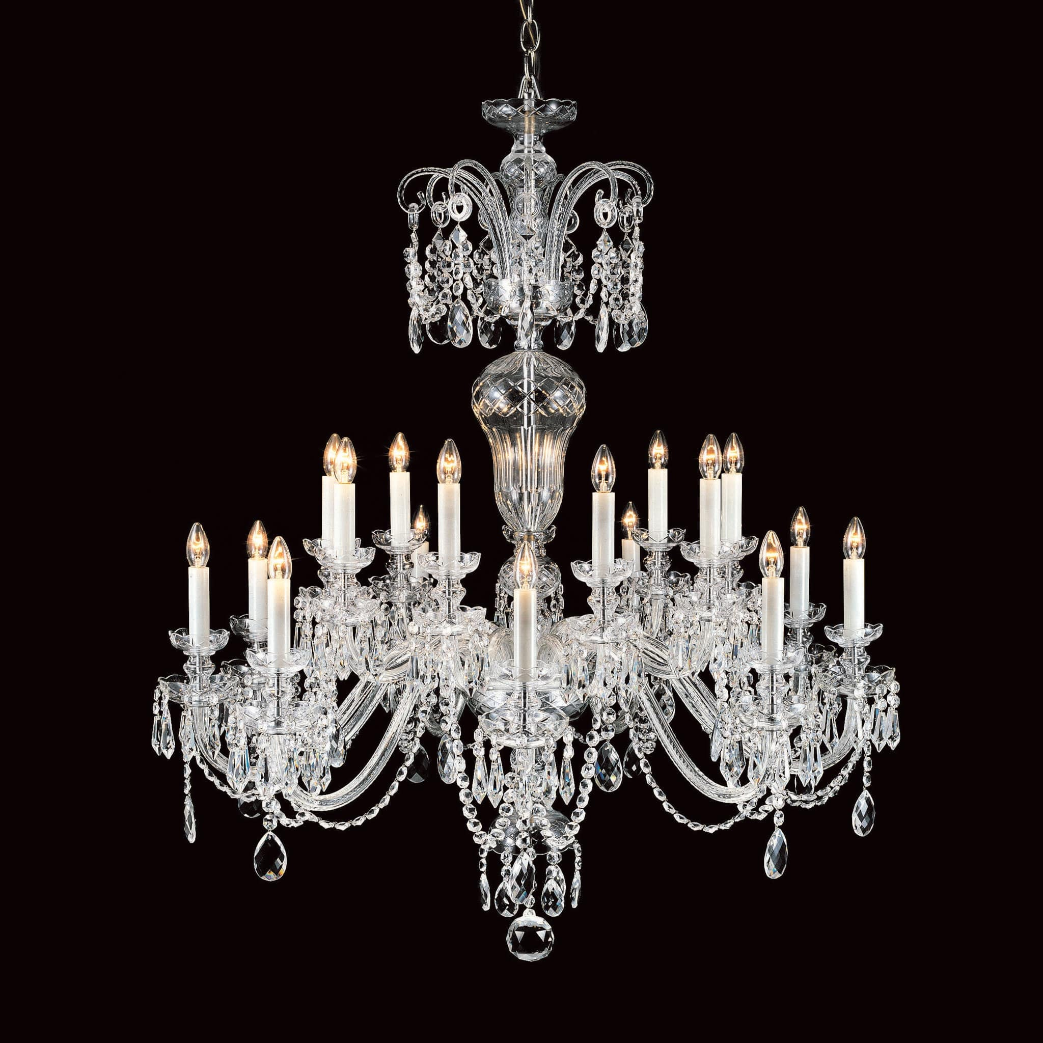 Impex Prague 18 Light Georgian Lead Crystal Chandelier CB125097/18 ...