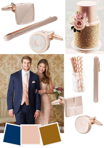 Rose Gold Groom Accessories by Elizabeth Parker