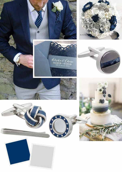 Blue and Grey Wedding Accessories by Elizabeth Parker England