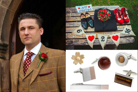 Men's accessories for a Country Styled Wedding by Elizabeth Parker