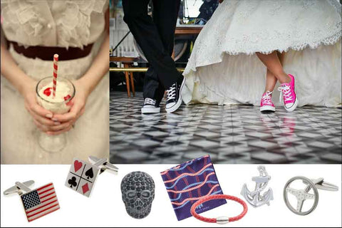 Men's accessories for a themed wedding by Elizabeth Parker