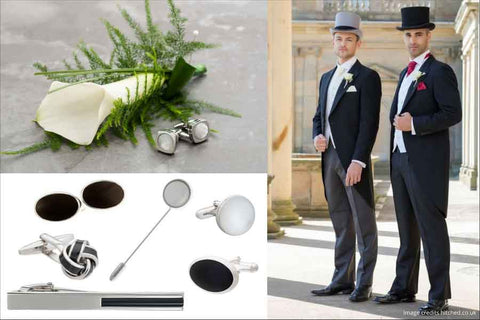 Men's accessories for a traditional wedding