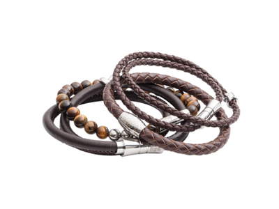 Elizabeth Parker Leather and Bead Bracelets