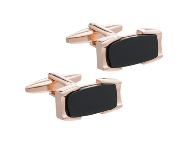 Crowning Glory Black Onyx Cufflinks by Elizabeth Parker