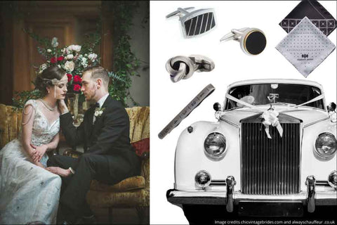 Men's accessories for a vintage themed wedding by Elizabeth Parker