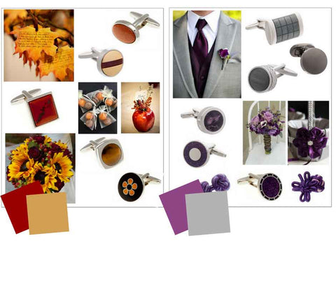 Autumn Winter Wedding Groom Accessory Colour Palettes