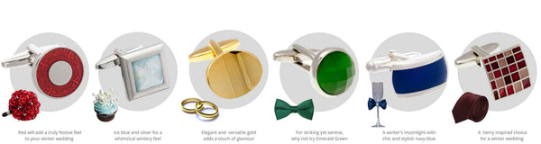 Autumn winter wedding cufflinks