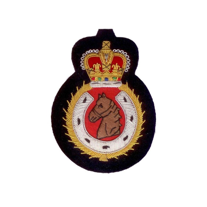 Hand Embroidered Heraldic Blazer Badge Crest With Gold & Silver Bullion Wire - BB011 (YY)