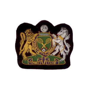 Hand Embroidered Heraldic Blazer Badge Crest With Gold & Silver Bullion Wire - BB018 (YY)