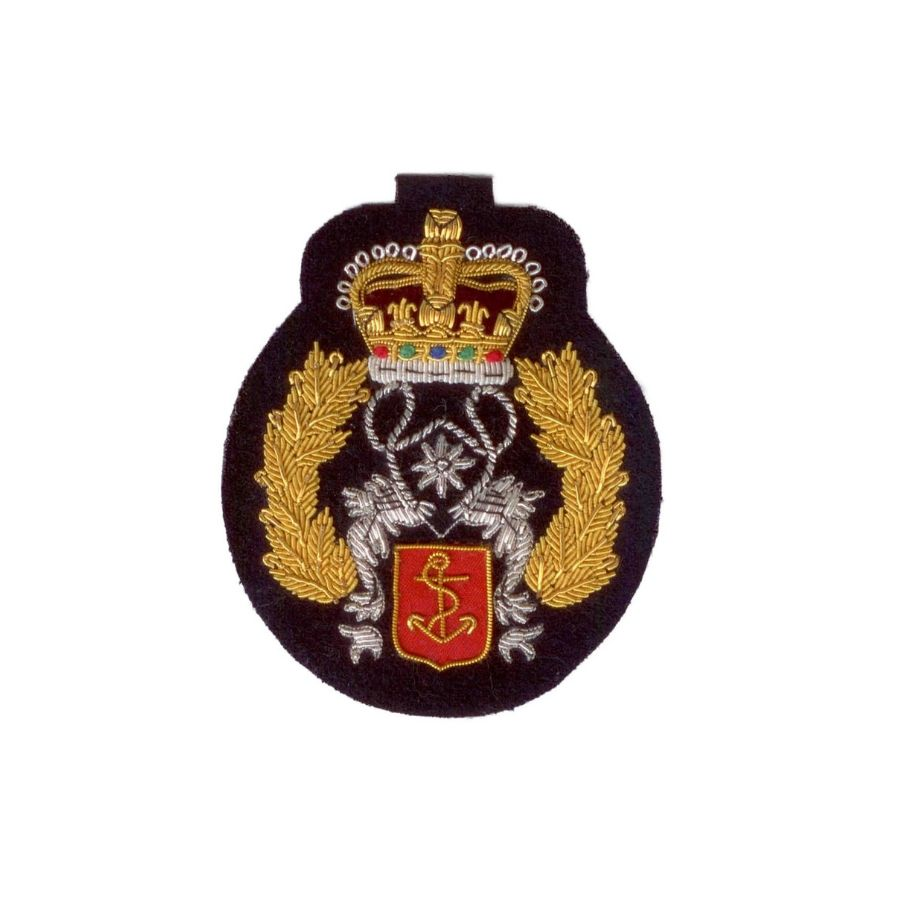 Hand Embroidered Heraldic Blazer Badge Crest With Gold & Silver Bullion Wire - BB021 (YY)
