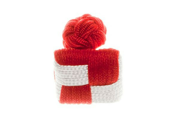 Chess Board Red & White Cuffknots