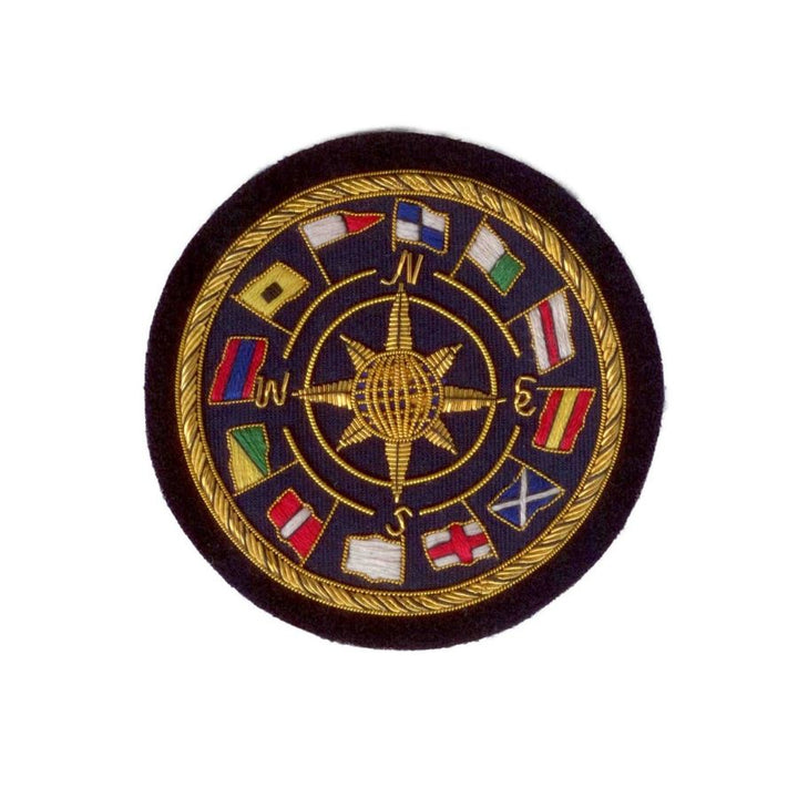 Hand Embroidered World Flag Blazer Badge Crest