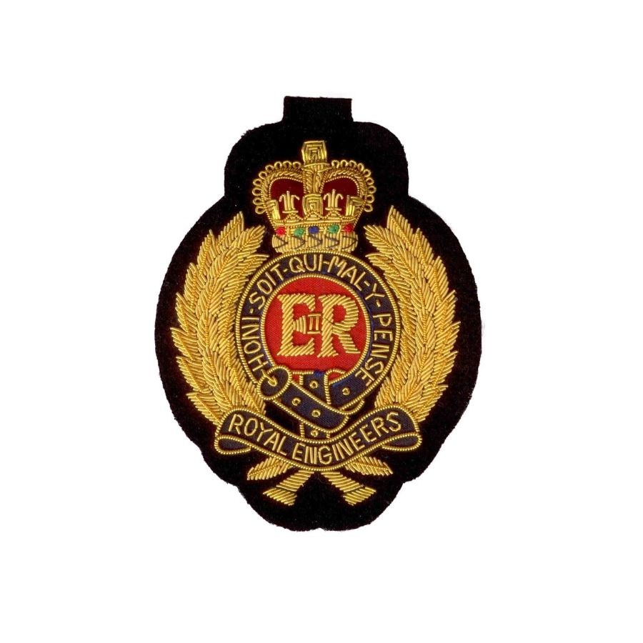 Hand Embroidered Heraldic Blazer Badge Crest With Gold & Silver Bullion Wire - BB004