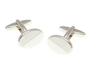Diamond Cut Oval Cufflinks