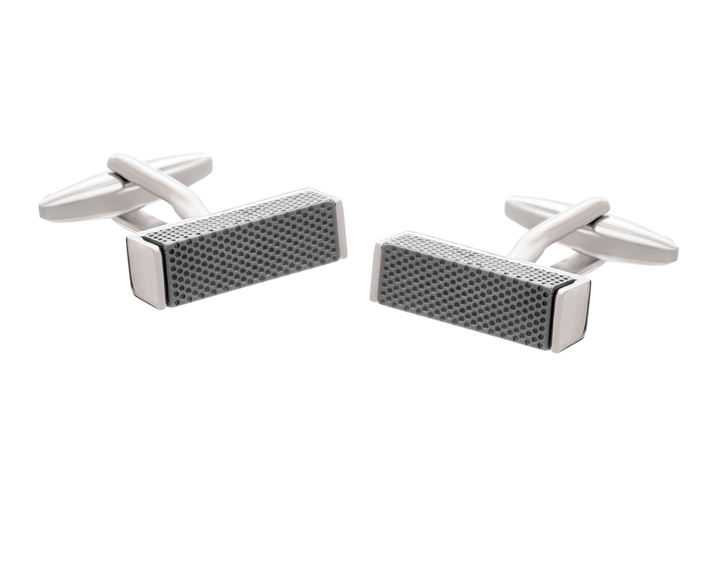 Textured Metal Block Cufflinks