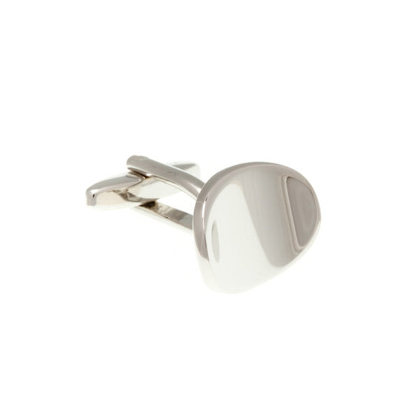 Abstract Oval Metal Cufflinks by Elizabeth Parker