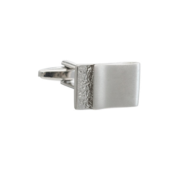 Turn and fold brushed metal cufflinks by Elizabeth Parker
