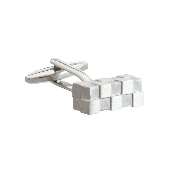 Uneven block bar cufflinks by Elizabeth Parker
