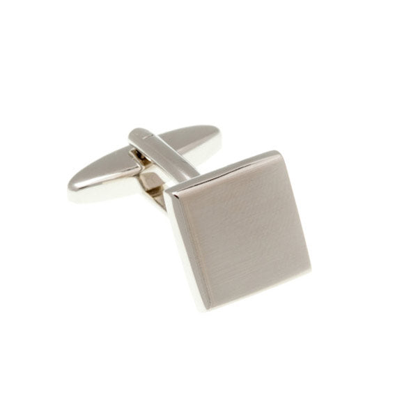Brushed Finish Square Simply Metal Cufflinks by Elizabeth Parker England