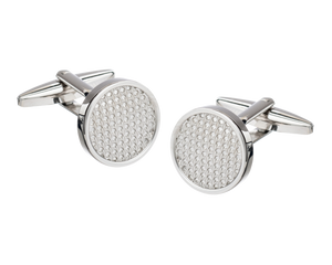 Metal Bumpy Textured Centre Cufflinks