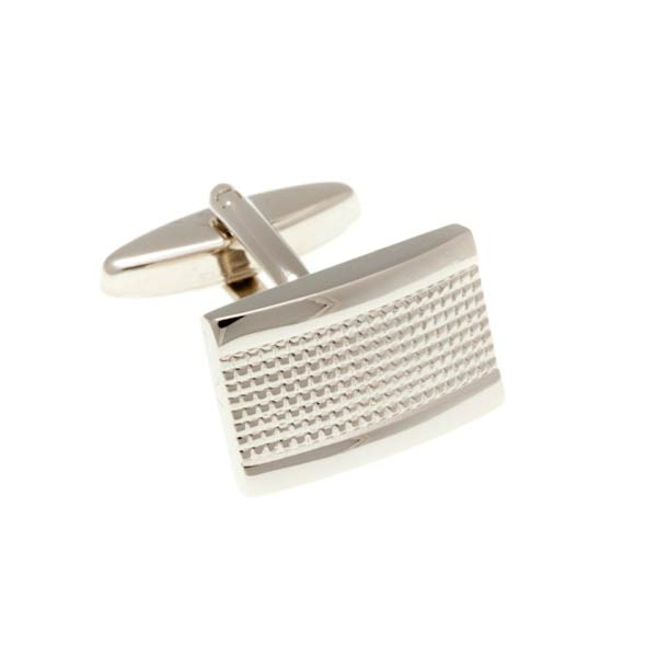 Industrial Oblong Shaped Simply Metal Cufflinks by Elizabeth Parker England