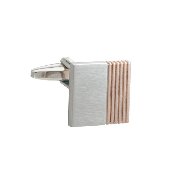 Rose Gold Inside Track Square Cufflinks By Elizabeth Parker