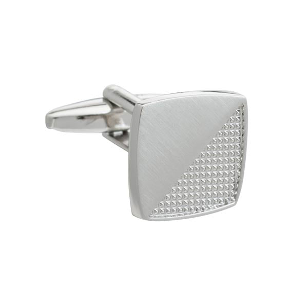 Simply Metal Rough and Smooth Square Cufflinks by Elizabeth Parker