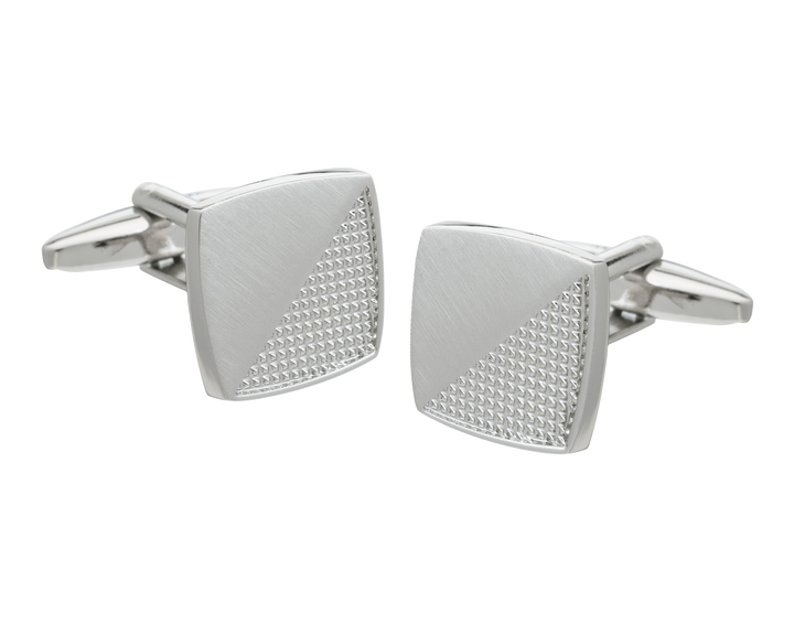 Metal Rough and Smooth Square Cufflinks