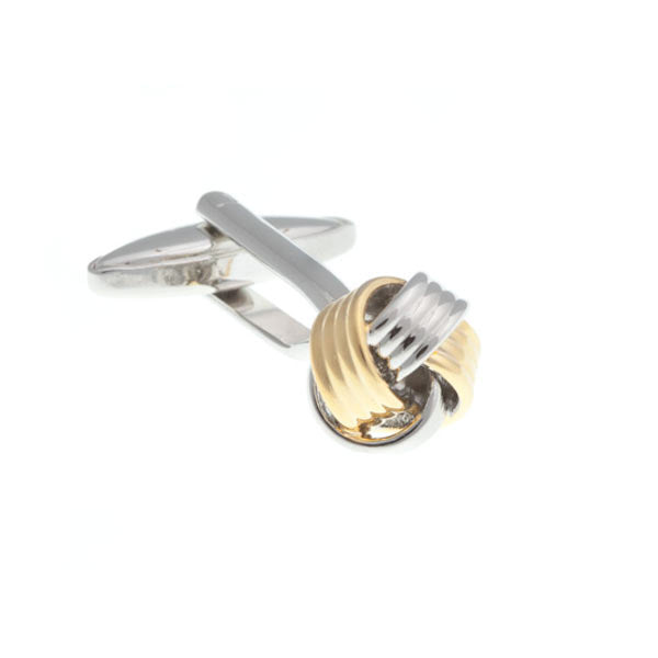 Ribbon Weave Gold Plated and Simply Metal Cufflinks by Elizabeth Parker