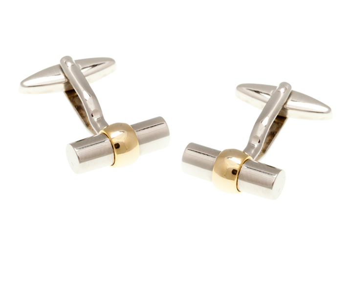 Gold Plated Bulb Tube Cufflinks