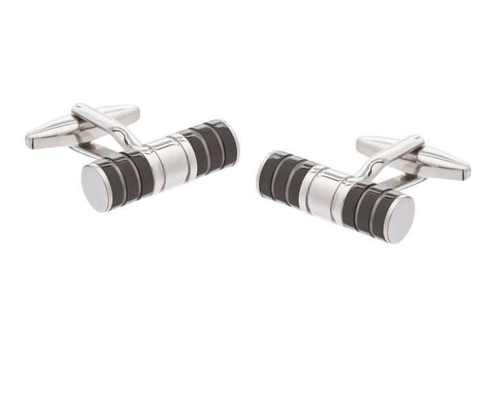 Black Tube Cufflinks