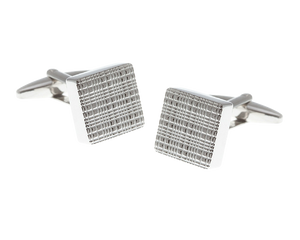 Square Textured Face Cufflinks