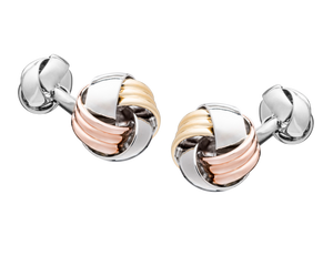 Whats Knot Mixed Metal Cufflinks