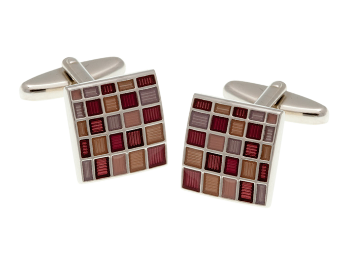 Blush Multi Square Cufflinks