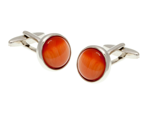 Cat's Eye Orange Cufflinks