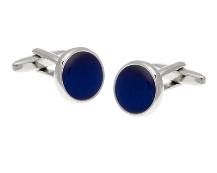 Cat's Eye Royal Blue Cufflinks