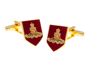 Artillery Style Shield Cufflinks