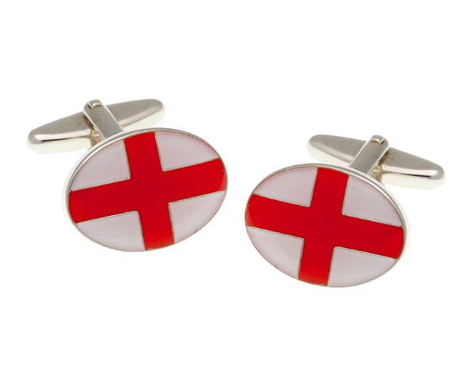 England St George Flag Cufflinks