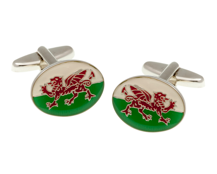 Welsh Red Dragon Flag Cufflinks