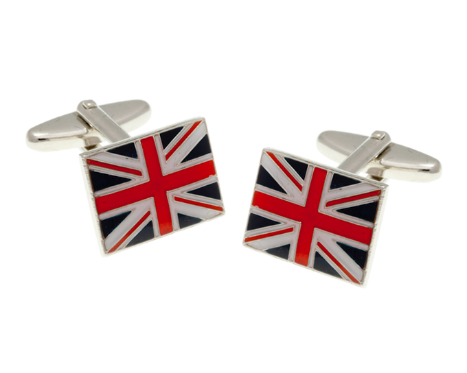 British Union Jack Flag Cufflinks
