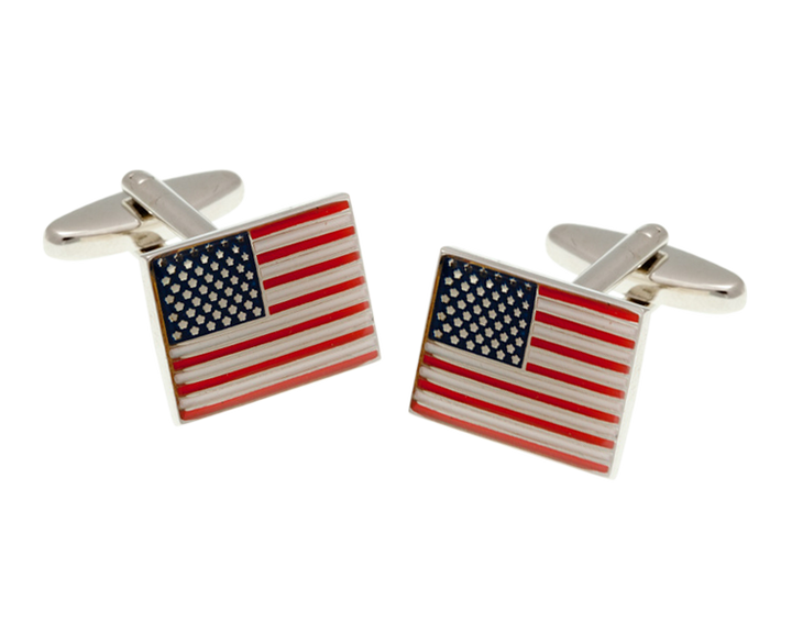 Stars and Stripes USA Flag Cufflinks