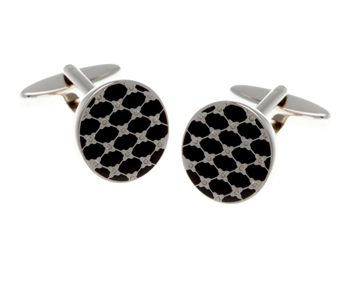 Black Trellis Cufflinks