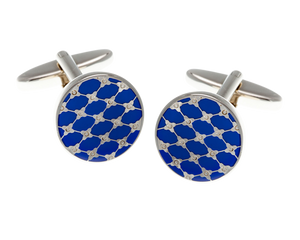Blue Trellis Cufflinks