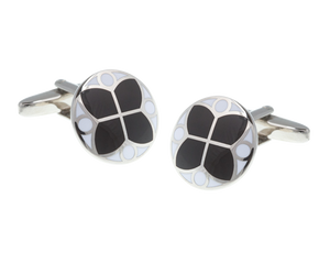Black and White Glass Window Cufflinks