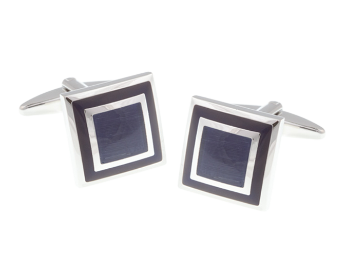 Blue Square Border Cufflinks